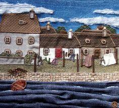 Image detail for -Scottish Textile Art - Carol Arnott - Textile Gallery page 1 'Washing Day'