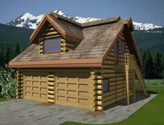 Vista Garage-Suite Floor Plan @ Avalon Log Homes Cabin Floor Plans Small, Loft Floor Plans, Log Home Plans, Luxury Log Cabins, Log Cabin Homes, Garage To Living Space, Wood Logs, Apartment Plans, Garage House