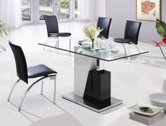 Glass Dining Table and Chairs Design