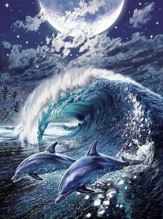 DIY Diamond Painting Cross Stitch Kit Diamond Mosaic Embroidery Landscape Animals Dolphin Painting Round Drill Diamond by AniqueCo on Etsy Dolphin Painting, Dolphin Art, 3d Painting, Dolphin Photos, Dolphins Tattoo, Cross Paintings, Sea Art, Oeuvre D'art, Fantasy Art