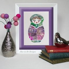 Babushka Doll  Unique handmade Vintage postage by MaxandMeDesigns, $65.00