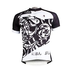 Paladin Mens Cycling Shirts Short Sleeve Samurai Pattern Bike Jerseys Size XXXL * You can get additional details at the image link. (Note:Amazon affiliate link)