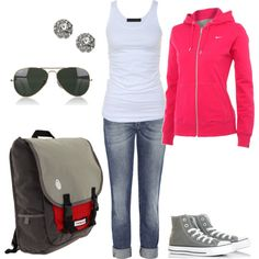 Cute and casual! ~ I'd have to switch out those high tops for low tops though!