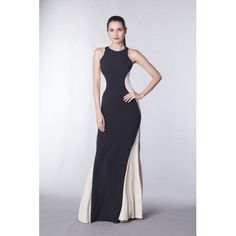 Halter color block gown Zip closure Sleeveless Jersey fabric Product code: Color/s available: Black Formal Gowns, Evening Gowns, Special Occasion, Prom Dresses, House Design, Speakers, How To Wear, Cocktail, Color