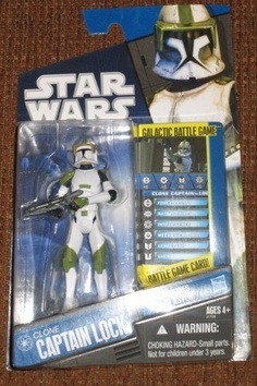 Star Wars Clone Wars Exclusive Action Figure Clone Captain Lock by Hasbro Toys