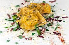 Checco's #fresh #stuffed #pasta with #radicchio and #cheese #italian_food