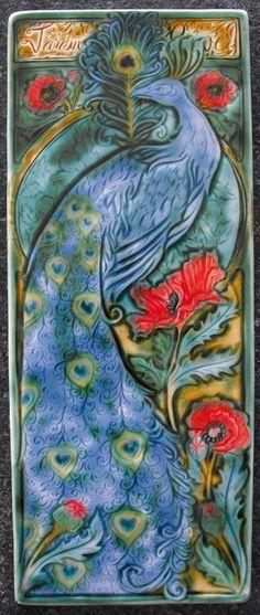 Jardin De Reve (Garden of Dreams) tile by Mary Mateljan Philpott, $200