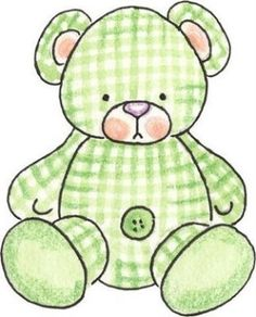 Cute Children`s Image for Baby Shower. Clipart Baby, Baby Shower Clipart, Quilt Baby, Dibujos Baby Shower, Scrapbook Bebe, Green Bear, Baby Embroidery, Baby Images, Expecting Baby