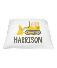 Loving this Tractor Harrison Personalized Pillowcase on #zulily! #zulilyfinds