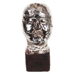Silver Ceramic Head with Base $20