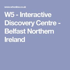 is an award-winning Science & Discovery Centre in Belfast, Northern Ireland. Located at the Odyssey Complex, is a perfect day out for the whole… Ireland With Kids, Belfast Northern Ireland, Discovery, Centre, Places, Lugares