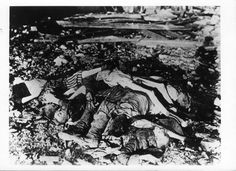 Sachsenhausen, Germany, 1945, A pile of corpses after the liberation.