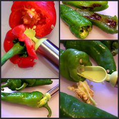 Melrose Peppers, It's a Chicago Thing! - Proud Italian Cook Gotta get this tool for peppers.