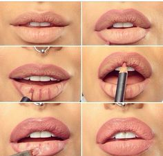 "How to get fuller ""kylie jenner"" lips...step one: get lip injections.... or be a normal human and use makeup tricks"