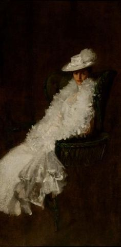 William Merritt Chase (American [Impressionism, Portrait] My Daughter Dieudonnee (also known as Alice Dieudonnee Chase. – The Athenaeum Woman Painting, Figure Painting, Painting & Drawing, Painting Frames, Jackson Pollock, Keith Haring, American Impressionism, Robert Motherwell, Art Et Illustration