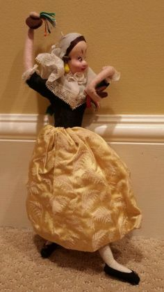 Vintage Klumpe Made in Spain Dancing Lady Doll #Klumpe