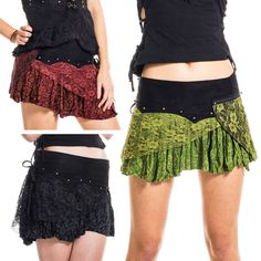 FESTIVAL MINI SKIRT, Goa pixie skirt, psy trance clothing, boho gypsy miniskirt