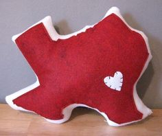 texas state pillow - it'd be fun to have a state pillow for each place our family has lived