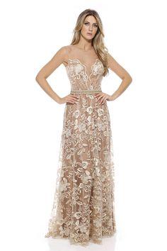 vestido de festa                                                                                                                                                     Mais Glamorous Dresses, Blush Dresses, 15 Dresses, Elegant Dresses, Nice Dresses, Fashion Dresses, Wedding Dresses, Dress Vestidos, Glamour