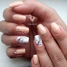 48 Pretty Nail Designs You'll Want To Copy Immediately Shellac Nails, Nude Nails, Coffin Nails, My Nails, Nail Polish, Chic Nail Art, Chic Nails, Pretty Nail Designs, Nail Art Designs