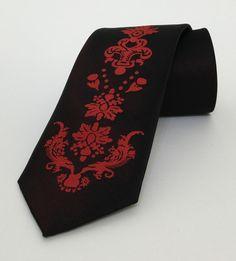 Black and Red Mens Tie 7,5 cm (2,95 #handmadeatamazon #nazodesign