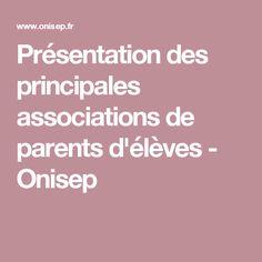 Présentation des principales associations de parents d'élèves - Onisep