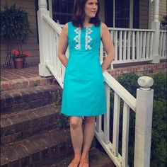 Lilly Pulitzer 'Adelson Shift Jacquard' size 2 Lilly Pulitzer 'Adelson Shift Jacquard' in size 2, turquoise. Fully lined. Can machine wash! Worn only once and then dry cleaned. Practically brand new! Please help me pay for my divorce by supporting me cleaning out my closet! No low B offers :) Lilly Pulitzer Dresses Mini