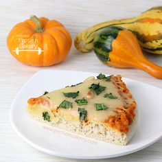 Pumpkin Kale Protein Pizza - Andréa's Protein Cakery high protein recipes, gluten free pizza