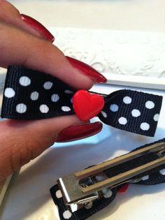 Rockabilly Mini Red Hearts on Navy Blue by MyBeautifulDelilah, $4.00