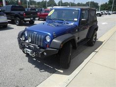 2010 Jeep Wrangler Sport ... 4WD SUV ... 30,211 miles ... 3.8L V6 engine ... 6-speed manual transmission ... brilliant blue exterior ... CONTACT LAFAYETTE FORD: 5202 Raeford Road, Fayetteville, NC 888-591-6778 -- lafayetteford.com
