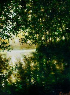 Dappled light reflections