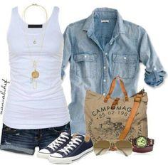 Blanco y jean