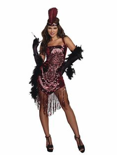 53047670d3 Dream Girl 9834 Women s Halloween Costume Gatsby Girl Flapper Set - Overstock  Shopping - Big Discounts on Dream Girl Costumes