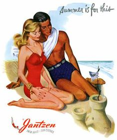 Swimwear ads of the 1940s