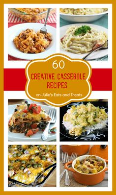 60 Creative Casseroles from your Favorite Bloggers all in One Place! Grab a fork and dig in! Crockpot Recipes, Great Recipes, Dinner Recipes, Cooking Recipes, Favorite Recipes, Amish Recipes, Dinner Ideas, Casserole Dishes, Casserole Recipes