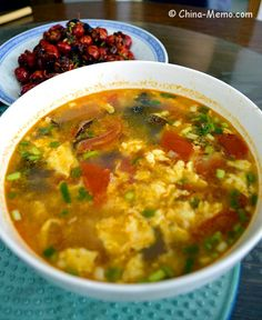 Chinese Egg Tomato Soup. www.china-memo.com #recipe