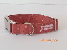 Halskette Hundsstern und Herzen auf pink Halskette von 4GUAUS