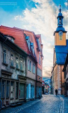 Downtown - Old town. Rudolstadt, Germany   by Kraetzsche