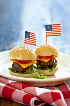 4th of July Foods Use Portabella mushrooms instead of buns and omit cheese  Click for more Ideas for the 4th of July