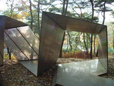 """Paper Snake,"" (2005) | Anyang Public Art Project |Anyang, South Korea • Kengo Kuma + Associates."