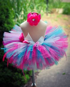 Pink Blue Tutu Skirt Baby Tutu Toddler Tutu by TrinitysTutus, $25.00