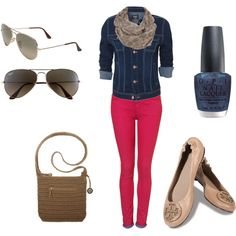 Colored Denim - Outfit idea to go with Emerson Edwards - Texas Rose  http://leizelnetral.vaultdenim.me/