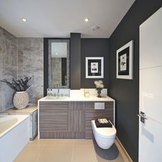 An example of one of our townhouse bathrooms at The Loxfords. Luxury apartments and luxury townhouses in Highbury, London. Cool Apartments, Luxury Apartments, Diy Projects Apartment, Powder Room Design, Living Room Decor Cozy, Property Design, London Apartment, Luxury Decor, Luxurious Bedrooms