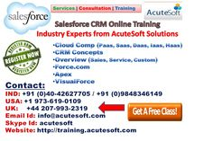 Salesforce CRM Online Training Industry Experts from AcuteSoft Solutions