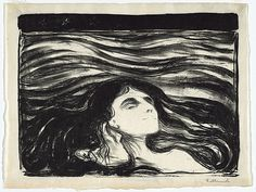 Edvard Munch, Lovers in Waves, 1896