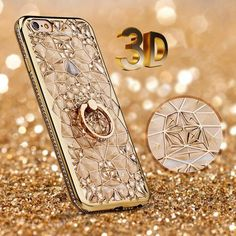 3D Glitter Case For Iphone Silicone Cover Protector Soft Gel Back Diamond Ring #UnbrandedGeneric