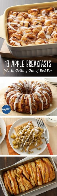 Forget the snooze button—once your family smells these apple pie-inspired breakfasts baking in the oven, they'll be gathered around the table in no time. Brunch Ideas, Breakfast Ideas, Breakfast Muffins, Breakfast Bake, What's For Breakfast, Breakfast Dishes, Breakfast Casserole, Brunch Recipes, Breakfast Recipes