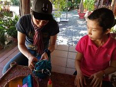 We got to make little lanterns to bring home. Now that's what I call a special souvenir! How To Make Lanterns, Hoi An, Vietnam Travel, Tour Guide, Travelling, Bring It On, Instagram, Souvenir