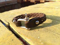 Mens leather bracelet brown thin leather bracelet by VavienStore, $16.00