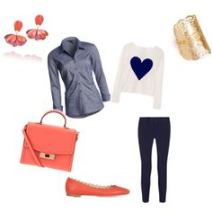 """""""Coral"""" by shizbuckley on Polyvore"""